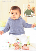 Baby / Boys Pattern for Hoodie & Sweater Patten | Sirdar Snuggly DK 1416
