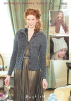 Cabled Cardigans & T Bag Hat Aran Pattern | Hayfield Bonus Aran Tweed 9800