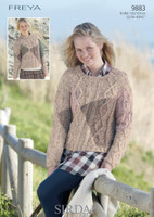 Cabled Sweaters Chunky Patterns | Sirdar Freya Chunky Yarn 9883