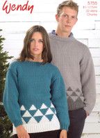 Wendy Chunky Sweater Pattern of Winter Trees - 5755