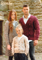 Cardigan for Children and Adults Aran Pattern | Wendy Aran 5740