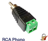 BNC Female to RCA Phono Male Connector screw on type for audio video