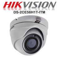 HIKVISION DS-2CE56H1T-ITM Dome Camera 1080p HD 5MP Fixed lens IR Range 20M Night Vision EXIR  HD TVI In/Out door (White)