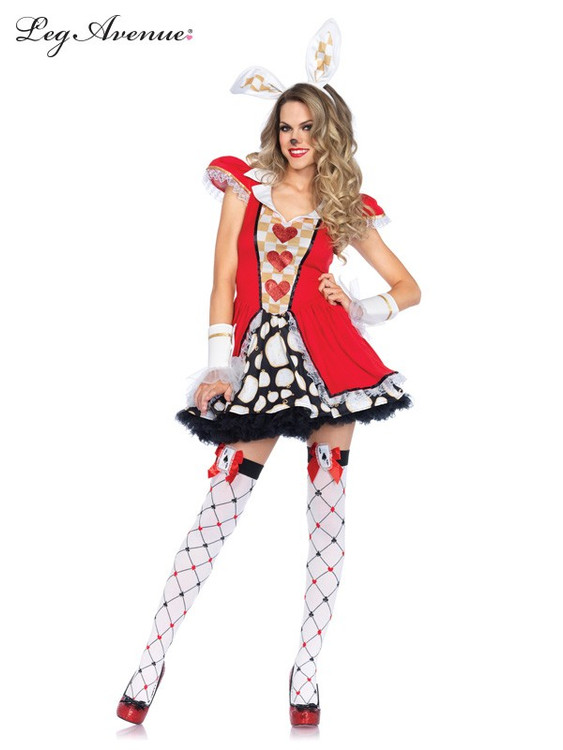 Alice in Wonderland Tick Tock White Rabbit Womens Costume