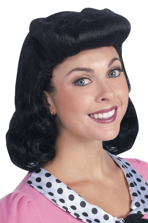 1940's Black Wig