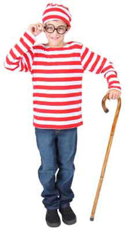 Wheres Wally Waldo Kids Costume