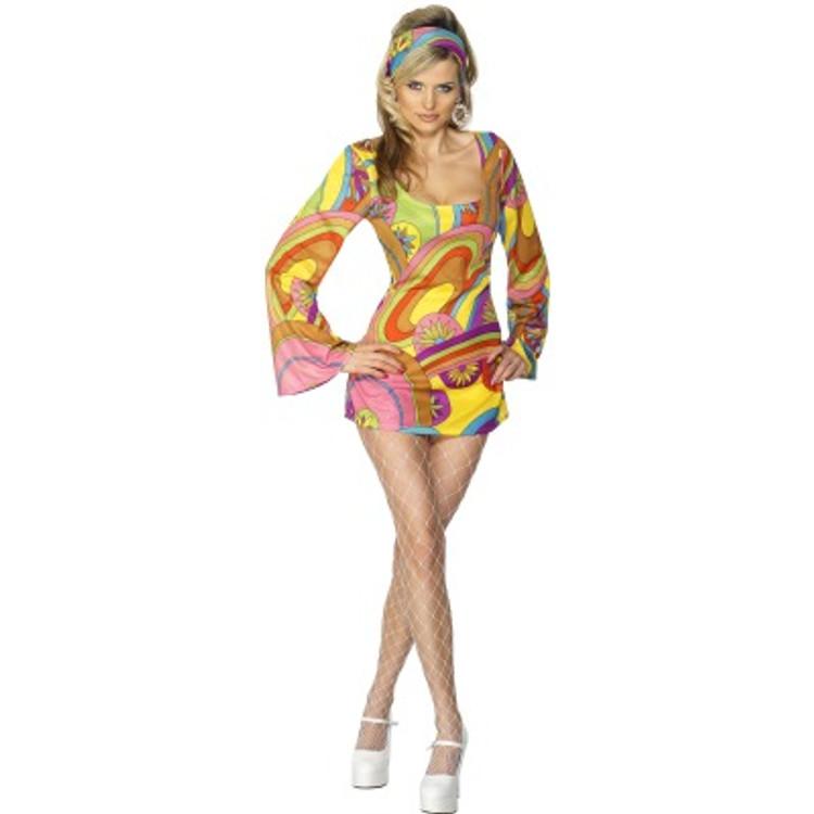 60'S   70'S Flower Power Womens Costume