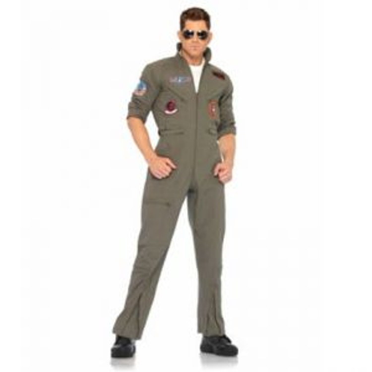 Top Gun Flight Suit Mens Costume