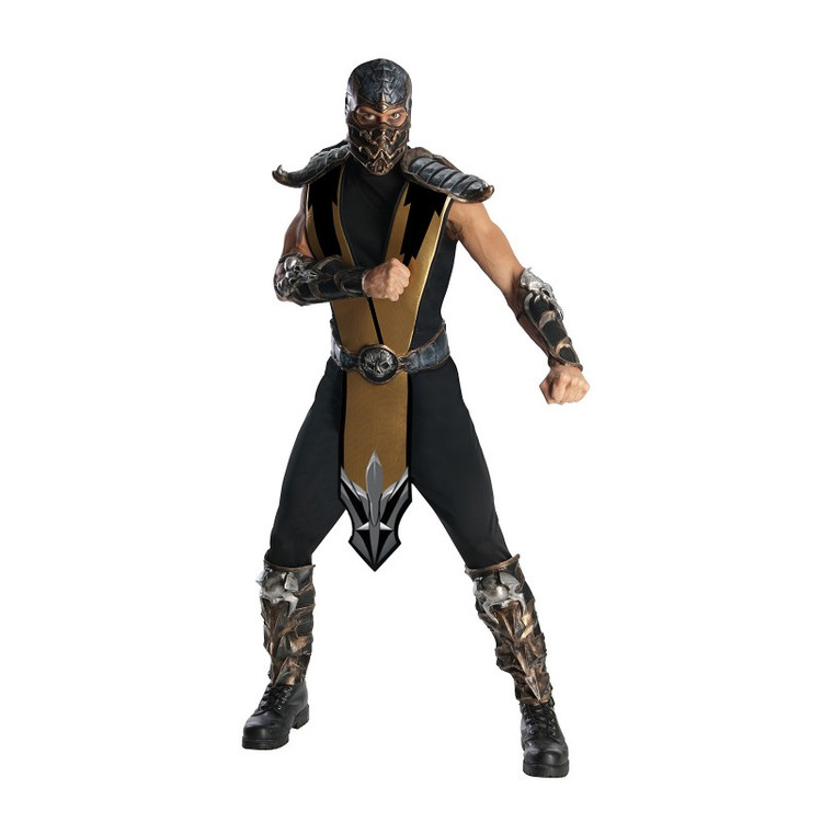 Mortal Kombat - Scorpion Mens Deluxe Costume
