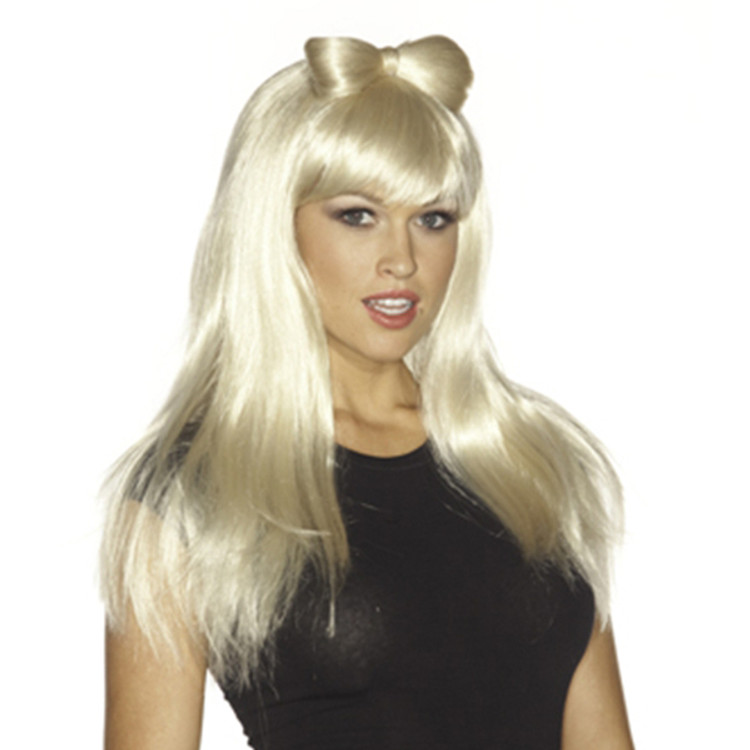Lady Gaga Blonde Wig with Bow