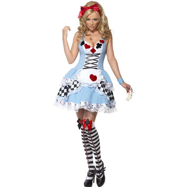 Alice in Wonderland Dress Miss Wonderland Womens Costume