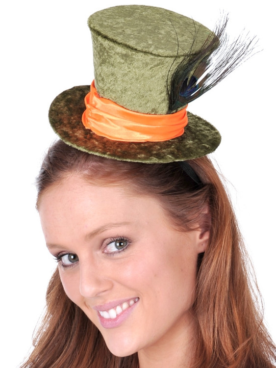 Alice in Wonderland Mad Hatter Mini Hat in Green
