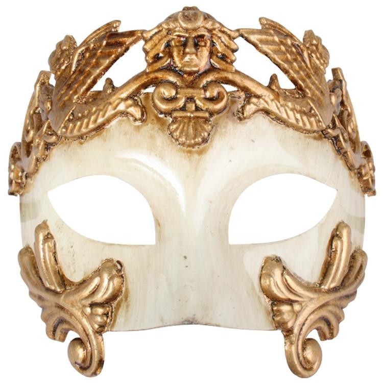 ANTONIO Roman Gold & Ivory Eye Mask