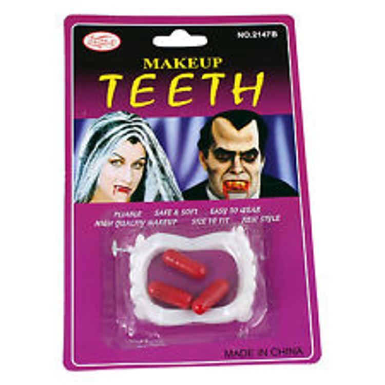 Vampire Teeth with blood capsules