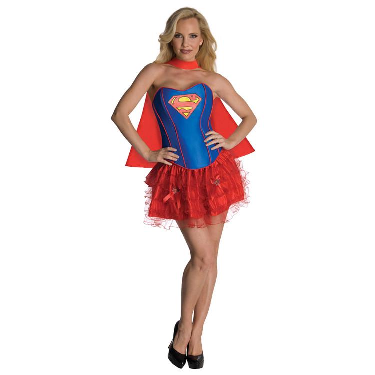 Supergirl Corset Women's Costume