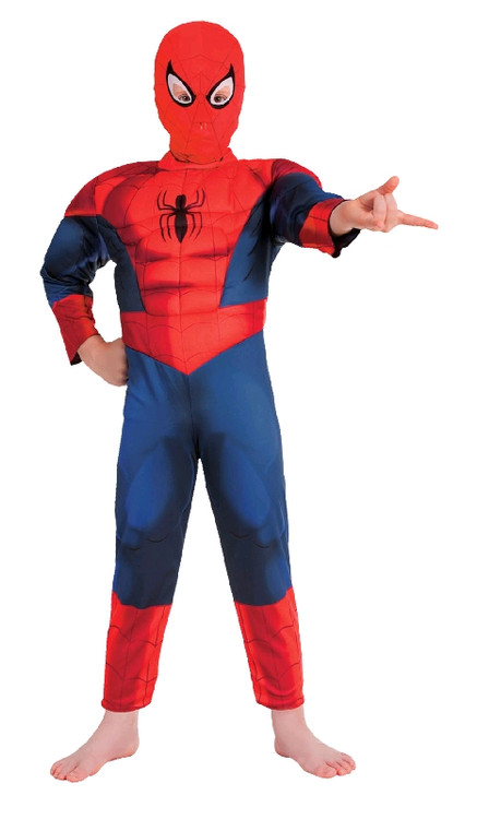 Spiderman - ULTIMATE SPIDERMAN DELUXE Boys Costume 3-5