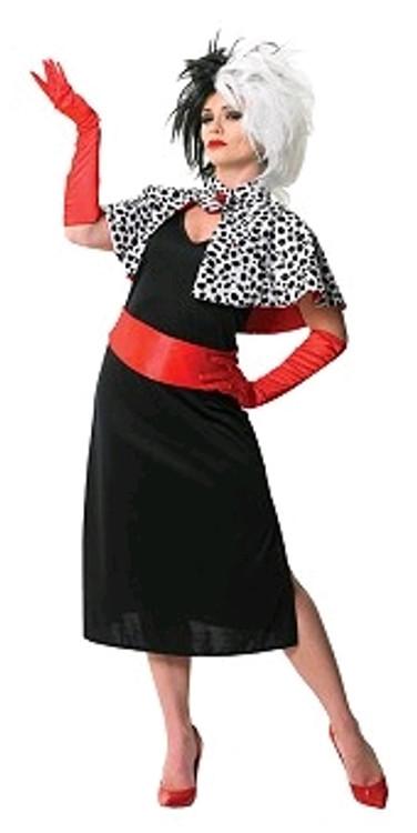 Cruella De Vil Womens Costume