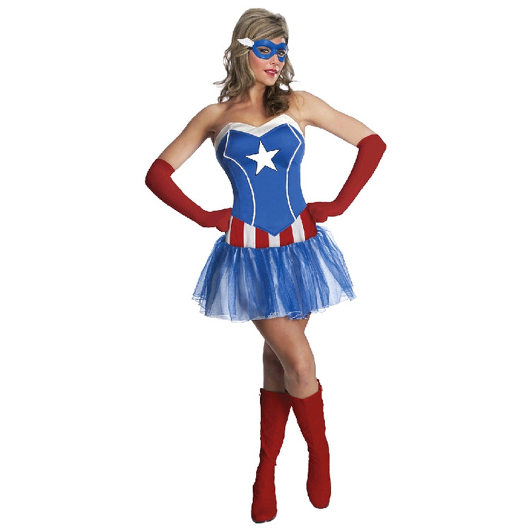 Captain America - American Lady Womens Costume