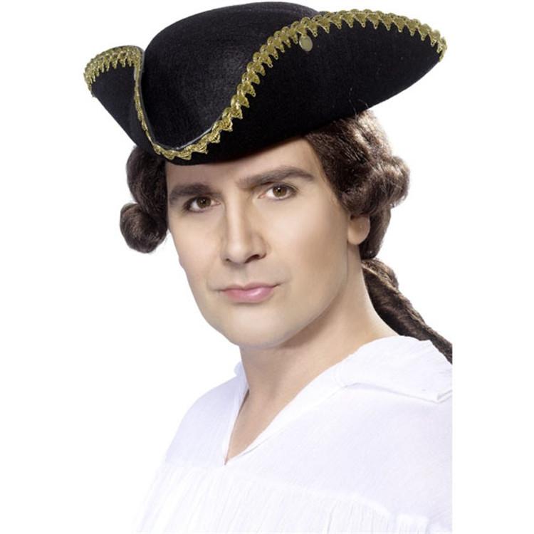 Dick Turpin Tricorn Hat Felt