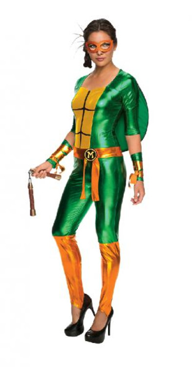 Teenage Mutant Ninja Turtles -  Michelangelo Jumposuit Womens Costume
