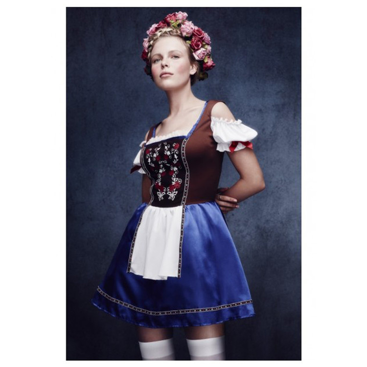 Oktoberfest Beer Girl Dirndl Womens Costume