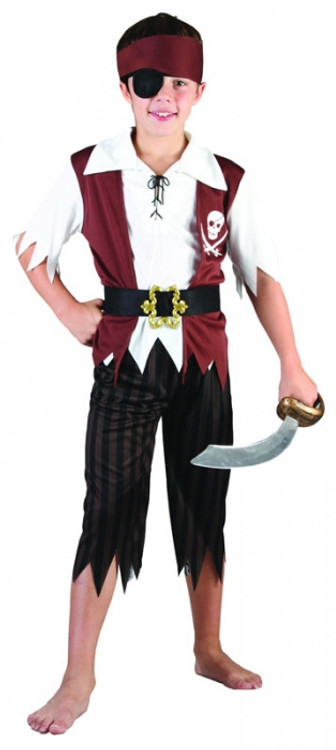 Pirate Buccaneer Boy Costume