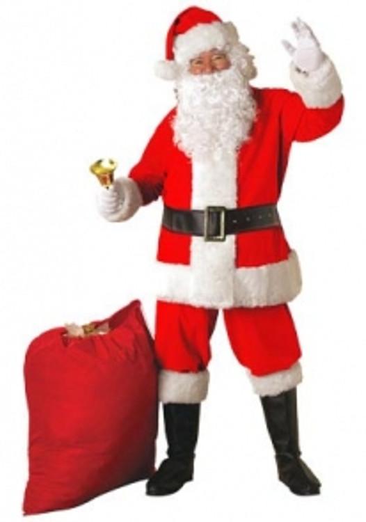 Santa Suit Mens Costume - Cotton