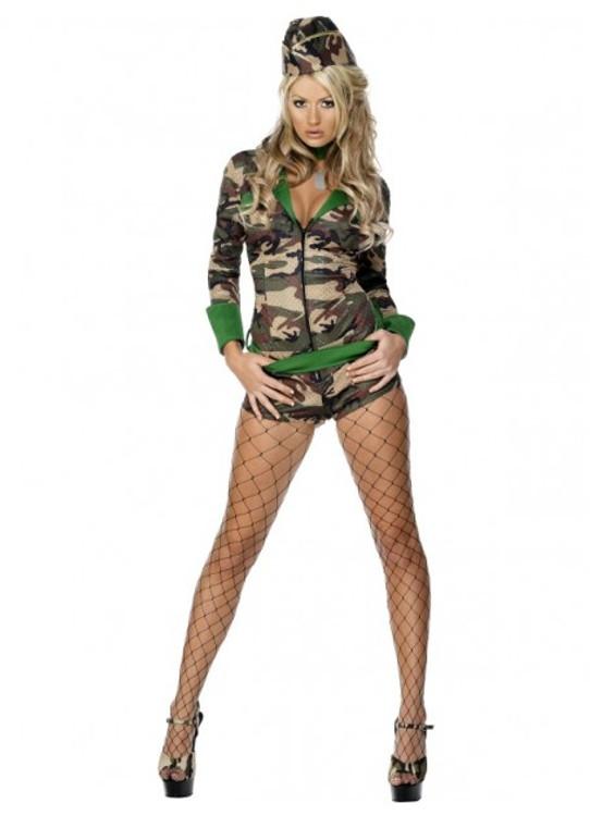 Army Combat Chick Womens Costume
