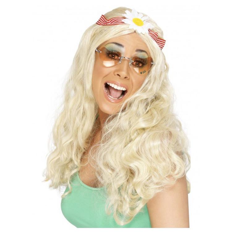 Hippie Blonde Groovy Wig