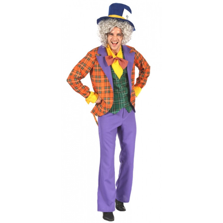 Alice in Wonderland Mad Hatter Magician Mens Costume