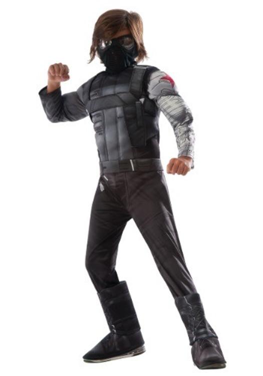 Captain America Civil War Winter Soldier Boys Costume