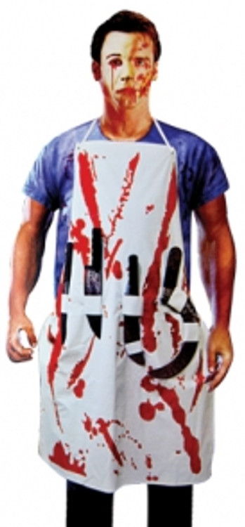 Blood Splattered Apron with Weapons