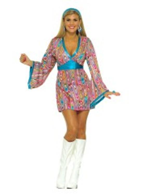 1960's 70s - Wild Swirl Womens Costume