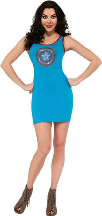 Captain America Rhinestone Tank Dress