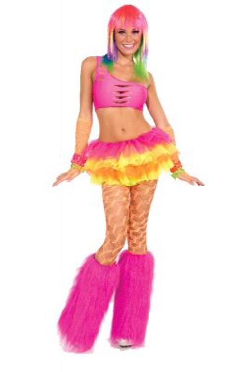 Pink Fur Leg Warmers