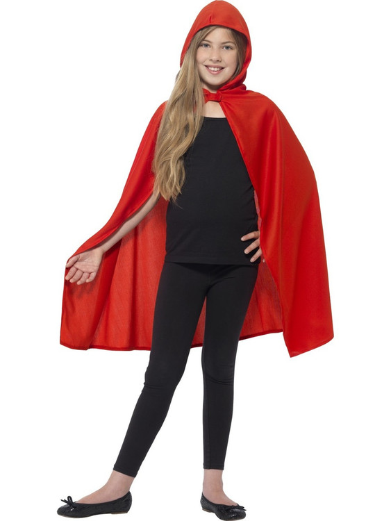 Cape Red Hooded Kids