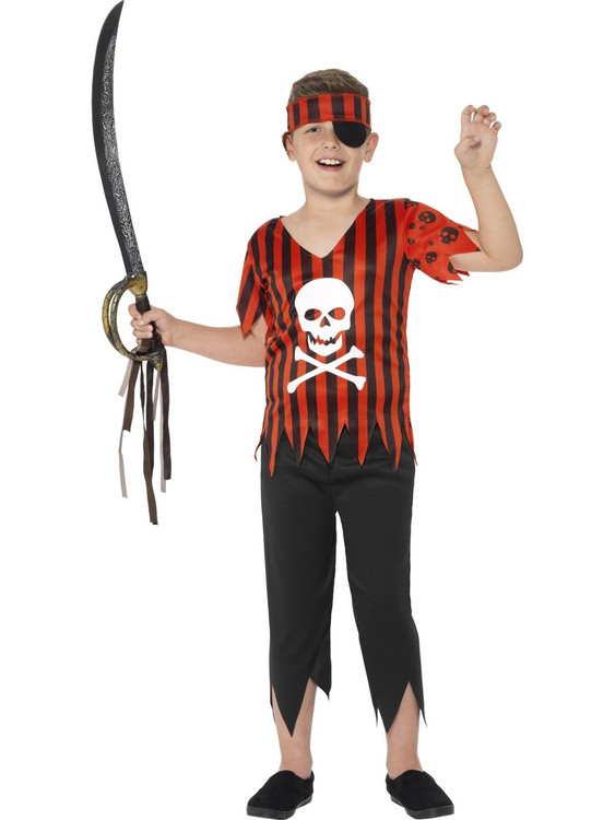 Jolly Roger Pirate Kids Costume