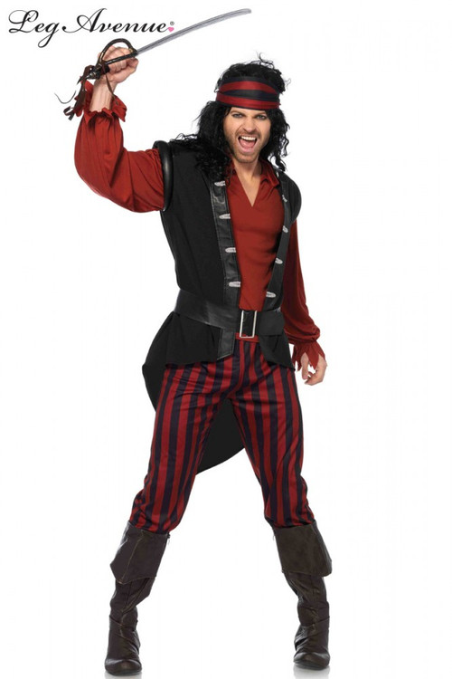 Pirate Captain Scurvy Mens Costume