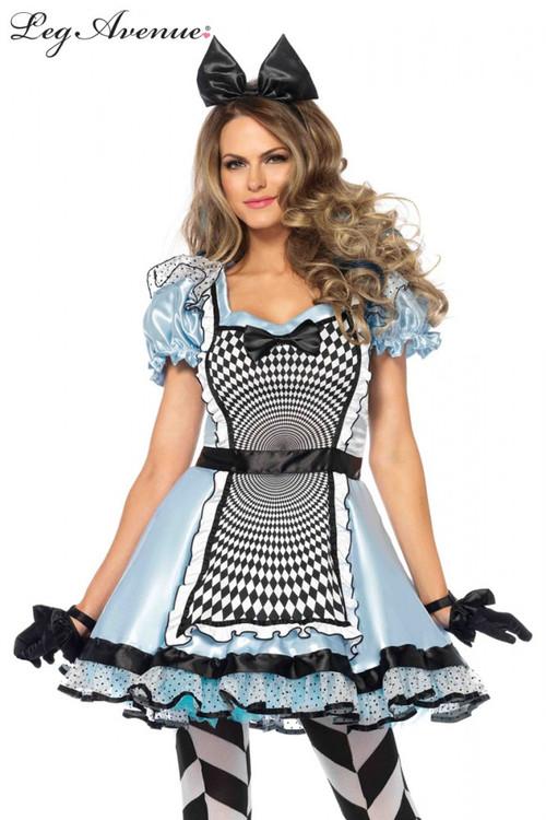 Alice in Wonderland Hypnotic Miss Alice Womens Costume
