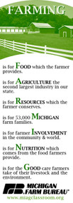 Farming Bookmark