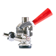 D System - Red Keg Coupler Lever Handle w/ 304 Stainless Steel Probe