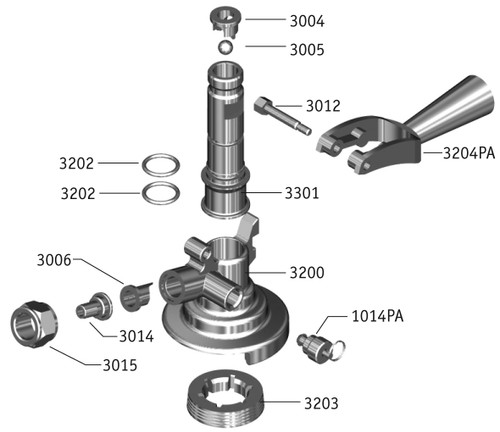 keg couplers | product diagrams, 'a' system exploded view ... keg coupler diagram #8