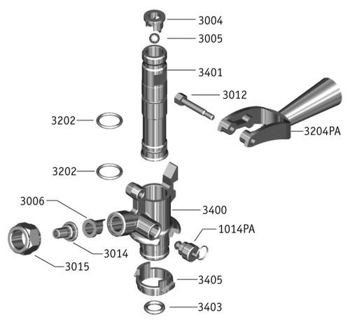 u' system keg couplers exploded view | beer keg couplers ... rj45 inline coupler wiring diagram keg coupler diagram
