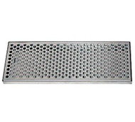 "Surface Mount Draft Beer Drip Tray, 33"" x 8"", Stainless"