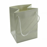High Gloss White Drawstring Bag