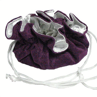 "8"" Purple and White Compartment Pouch"