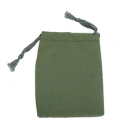 "3"" x 4"" Grey Green Drawstring Pouch"