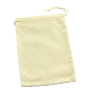 """Off-White 5"""" x 7"""" NumaSuede Drawstring Pouch"""