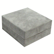 Grey Hinge Box in textured flocked paper