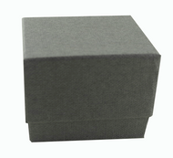 Classic Grey Textured Paper 2 Piece Ring Box